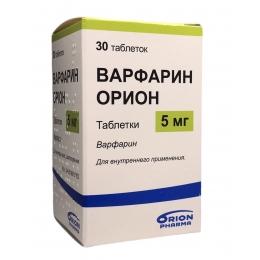 Варфарин табл. 5 мг 30