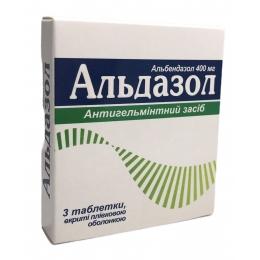 Альдазол табл. п/о 400 мг 3