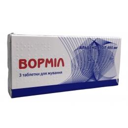 Вормил табл. д/жев. 400 мг 3