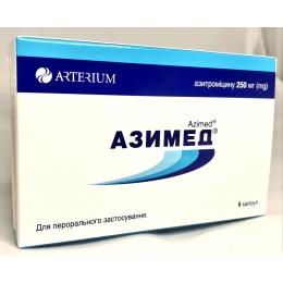 Азимед капс. 250 мг 6