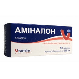Аминалон табл. п/о 250 мг 50