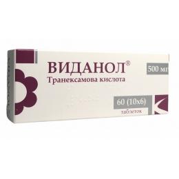 Виданол табл. п/о 500 мг блистер 60