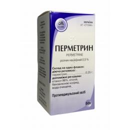 Перметрин р-р накожный 0,5% фл. 50 г 1